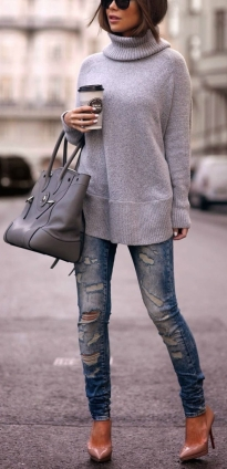 fall-fashion-gray-turtleneck-knit-ripped-denim1-494x1024